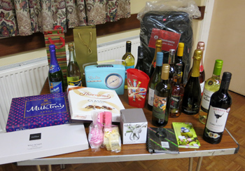 Many prizes in the raffle